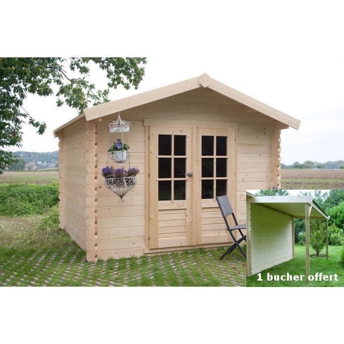 Solid s8760 abri de jardin gera en bois 19 mm 5 12 m2 for Jardin prix m2
