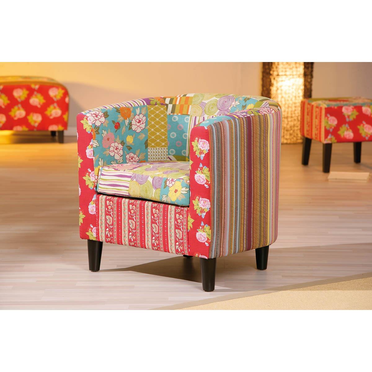 fauteuil design patchwork vladimir comparer avec. Black Bedroom Furniture Sets. Home Design Ideas