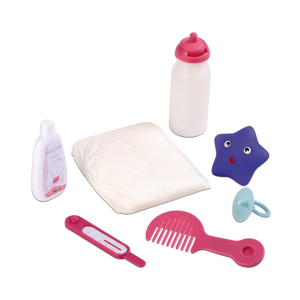 Smoby set baignoire et accessoires baby nurse comparer for Baignoire et accessoires