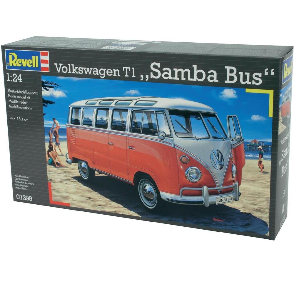 revell maquette volkswagen t1 samba bus echelle 1 24. Black Bedroom Furniture Sets. Home Design Ideas