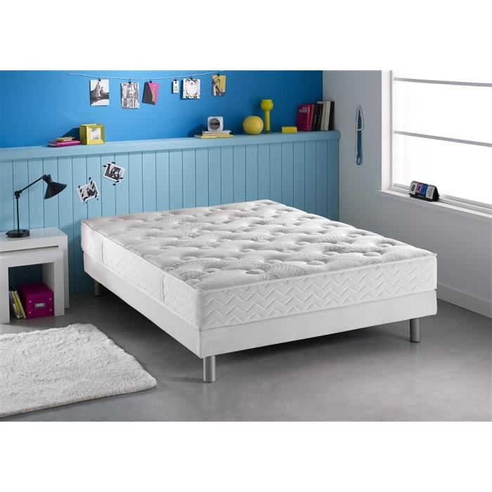 dunlopillo ensemble matelas et sommier austerlitz avec. Black Bedroom Furniture Sets. Home Design Ideas