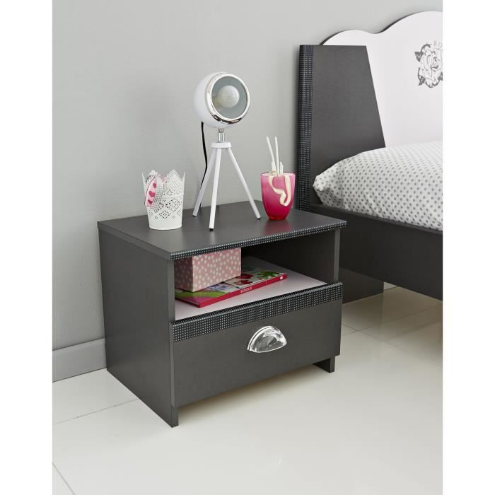 last meubles chevet chic avec 1 tiroir comparer avec. Black Bedroom Furniture Sets. Home Design Ideas