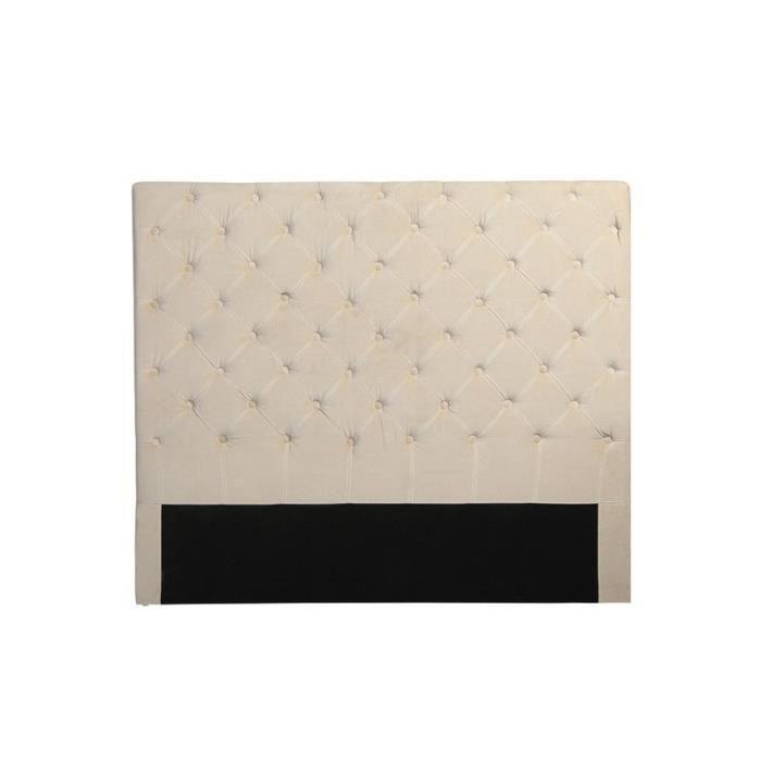 tete de lit capitonn e sogno en tissu 120 x 140 cm. Black Bedroom Furniture Sets. Home Design Ideas