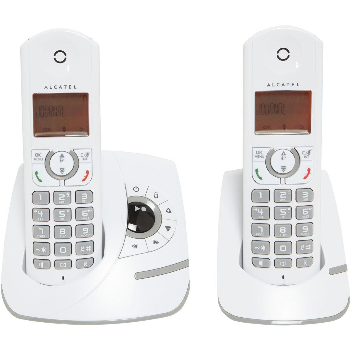 alcatel inspire f330 voice duo t l phone sans fil avec r pondeur 2 combin s comparer avec. Black Bedroom Furniture Sets. Home Design Ideas