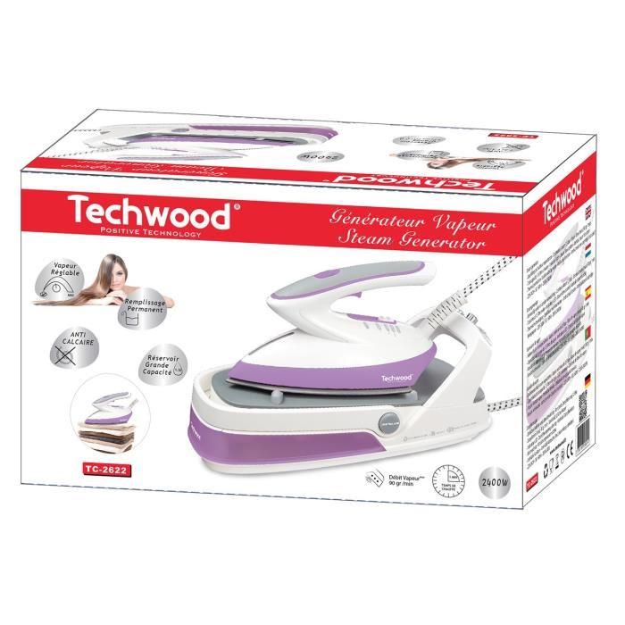 Techwood tc 2691 centrale vapeur 2400 w comparer avec - Defroisseur vapeur comparer les prix ...