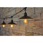 Lumisky Vinty Light - Vintage guirlande décorative d'extérieur avec abat-jours 10 ampoules