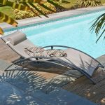 DCB Garden Bain de soleil multi-positions en textilène