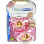 Dodie 2 sucettes disney + 6 mois silicone princess