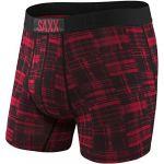 Saxx Underwear Vêtements intérieurs Vibe Boxer Modern Fit - Red Patched Plaid - Taille M