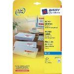 Avery-Zweckform 12000 étiquettes adresses transparents à 25 feuilles 21,2 x 45,7 mm