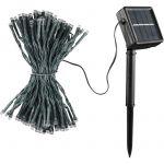 Guirlande solaire 100 LED 12m Blanc