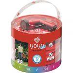Yoyo FITT 650301 Tuyau Extensible Go 15m + Accessoires, Rouge, 1 x 2 x 3 cm