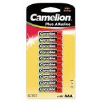 Camelion Pack de 10 piles Alcaline LR03 Micro AAA