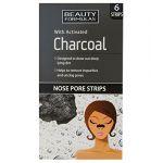 Beauty Formulas Cleansing Nose Pore Strips - Charcoal - 6 unités