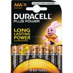 Duracell 8 piles alcalines AAA LR03 1.5V Plus Power