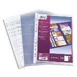 Elba 10 pochettes en PVC pour cartes de visite