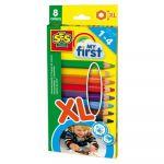 Ses Creative 8 crayons de couleurs My First XL