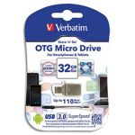 Verbatim 49826 - Clé USB 3.0 Métal OTG Store 'n' Go Micro Drive 32 Go
