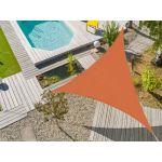 Voile d'ombrage triangulaire Flex 5 x 5 x 5 m Camel
