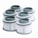 Alice's Garden Pack de 6 filtres pour Spa - Camaro, Super Camaro, Alpine 4 et 6, Silver Cloud 4 et 6, Bliss 6 et Mono 6-6 Cartouches filtrantes de Remplacement pour Jacuzzi Gonflable mspa