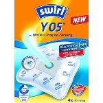Swirl Y 05 - 4 sacs AirSpace + 1 filtre pour aspirateurs