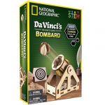 National geographic Bandai - Les inventions De Vinci - kit pour construire une bombarde en bois sans outil - Jeu scientifique et éducatif - STEM - JM02495