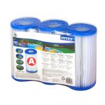 Intex Lot de 3 cartouches de filtration A