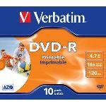 Verbatim 43521 - 10 x DVD-R 4.7 Go 16x