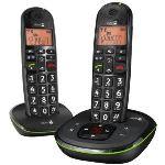 Doro PhoneEasy 105wr duo - Téléphone sans fil avec répondeur 2 combinés
