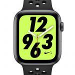 Nike Montre Sport 44 mm Apple Watch + Series 4 (GPS + Cellular) avec bracelet Sport Band - Noir - Taille ONE SIZE