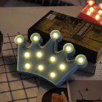 WeWood Forme de couronne créative Lampe de décoration à DEL blanche chaude, 2 piles AA