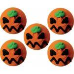 5 mini disques en sucre Citrouilles Halloween