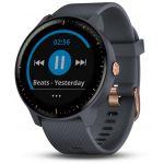 Garmin Vivoactive 3 music bleu granit et rose - Montre sport GPS