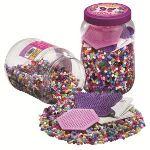 Hama Pot de 7000 perles à repasser avec 2 plaques
