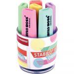 Stabilo Boss Original - Pot de 6 surligneurs pastel assortis