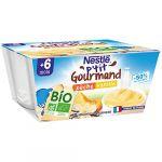 Nestlé Desserts Bébé Bio Pêche & Vanille Dés 8 Mois Réduit En Sucres P'tit Gourmand - Les 4 Pots De 90g
