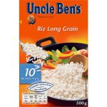 Uncle Ben's Riz long grain, en vrac, cuisson 10 minutes - La boîte de 500g
