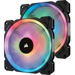 Corsair LL140 RGB x2 - Ventilateur Dual Light Loop RGB LED PWM 140 mm