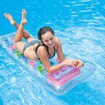 Intex Matelas transparent de piscine et plage