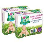 Love & Green Couches écologiques taille 4+ Maxi+ 9-20 kg - paquet de 56