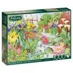 Diset Puzzle 1000 pièces : Spectacle de fleurs : Le jardin d'eau