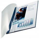 Leitz 7398-00-35 - Boîte de 10 reliures souples ImpressBIND, dos de 3,5mm, format A4, garde transparente, dos toilé coloris bleu