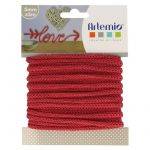 Artémio Fil pour tricotin - Rouge - 5 mm x 5 m