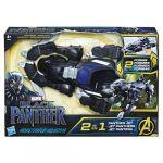 Hasbro Black Panther - Véhicule transformable avec figurine 15cm