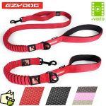 Ezydog Laisse pour chien Technologie Zero Shock Noir 121,9cm