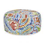 Pouf gonflable Bocarnea - Assise 53 cm - Revêtement spun polyester 200 mg - Motif tropical multicolore