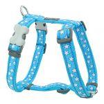 RedDingo Harnais réglable pour chien Bleu Etoiles Blanc 45 à 69 cm 20 mm