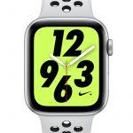 Nike Montre Sport 44 mm Apple Watch + Series 4 (GPS + Cellular) avec bracelet Sport Band - Argent - Taille ONE SIZE