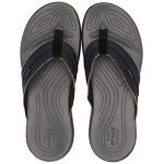 Crocs Santa Cruz Canvas Flip Men, Tongs Homme, Noir (Black/Slate Grey 0dd) 42/43 EU