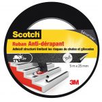 Scotch Bande antidérapante pour escaliers : Longueur 5m x largeur 25mm